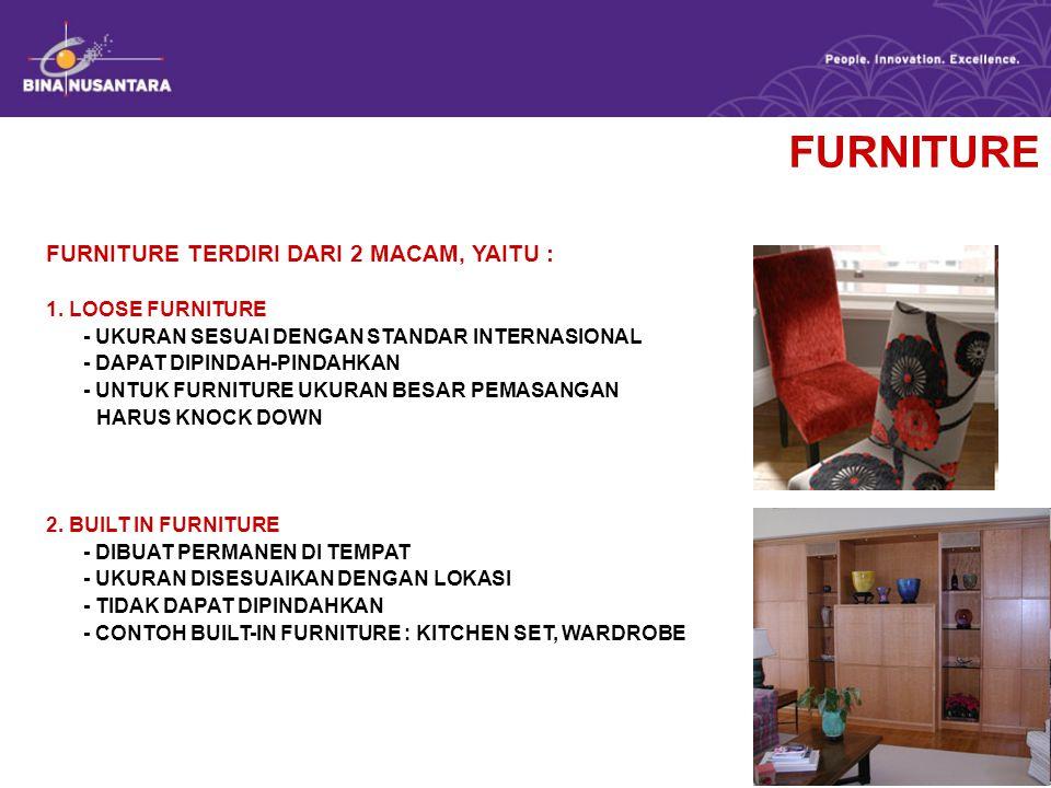 LOOSE FURNITURE BED TERDIRI ATAS 3 BAGIAN : 1.HEADBOARD 2.RANGKA/FRAME 3.MATTRASS/KASUR UKURAN STANDAR MATTRASS : A.