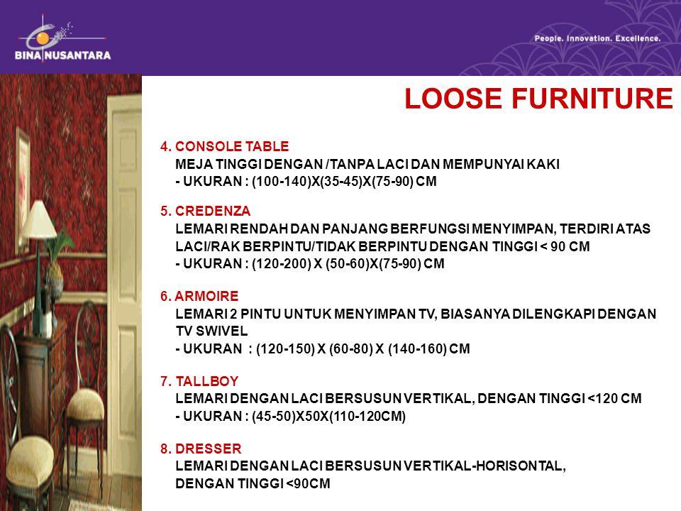 LOOSE FURNITURE 4.