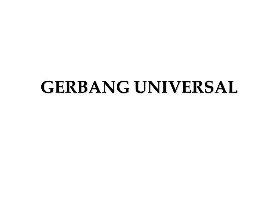 Gerbang Universal Gerbang Universal adalah gerbang yang dapat digunakan untuk melakukan semua fungsi logika.