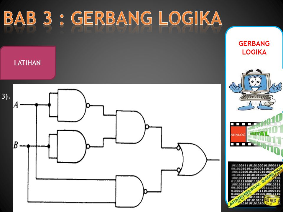 GERBANG LOGIKA LATIHAN 3).