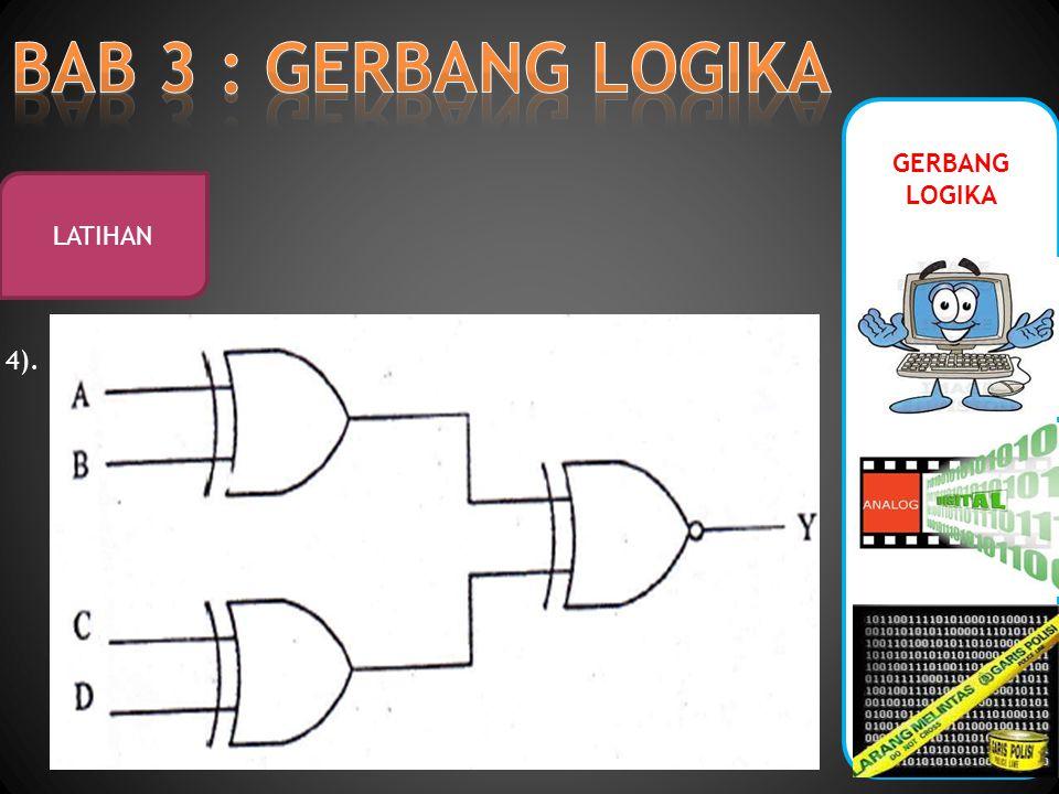 GERBANG LOGIKA LATIHAN 4).