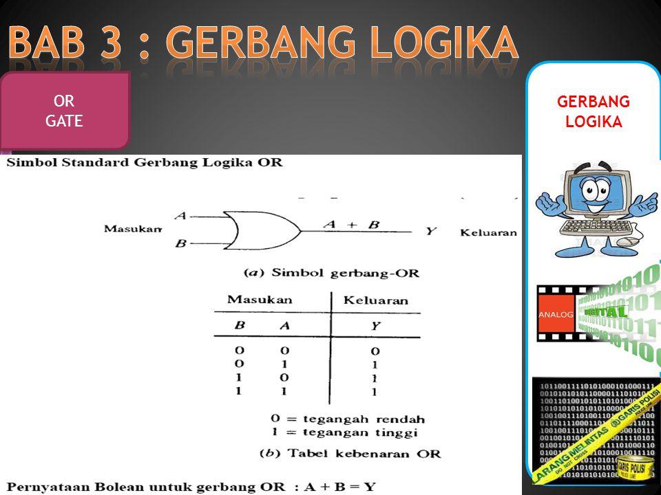 GERBANG LOGIKA XOR GATE Gerbang XOR (Exclusive OR) menghasilkan output tinggi ketika salah satu input adalah tinggi.