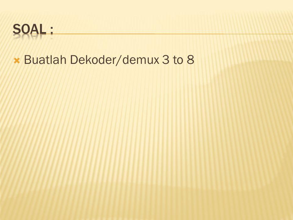  Buatlah Dekoder/demux 3 to 8