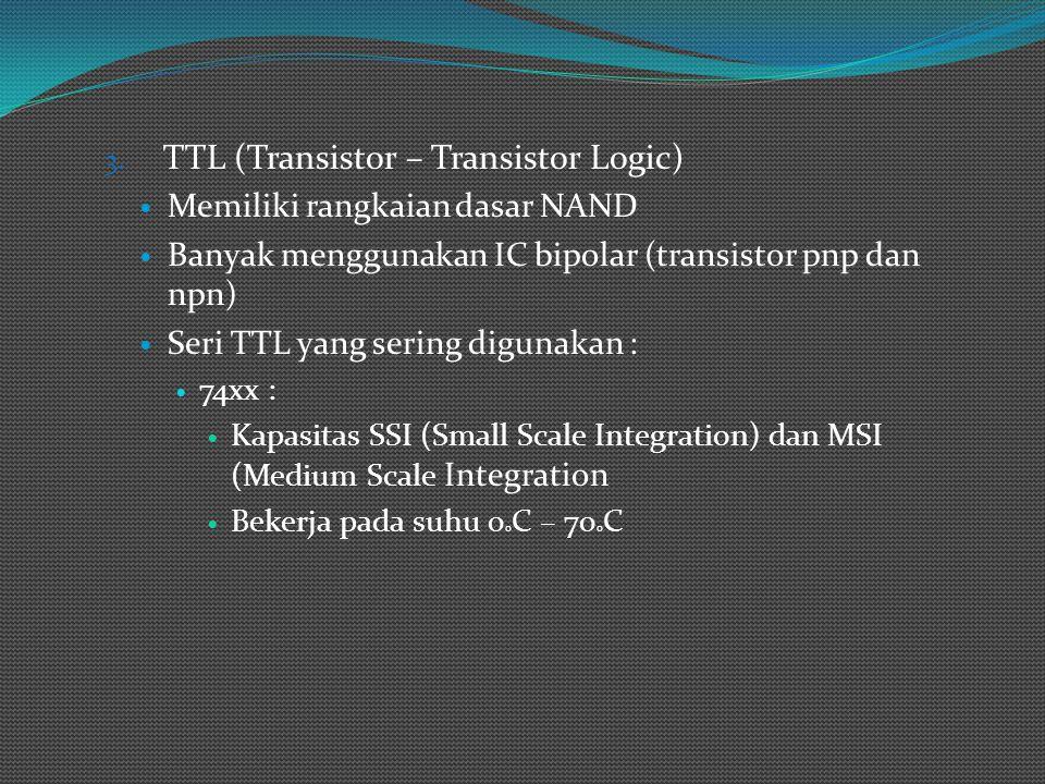 Contoh : (TTL Standar )