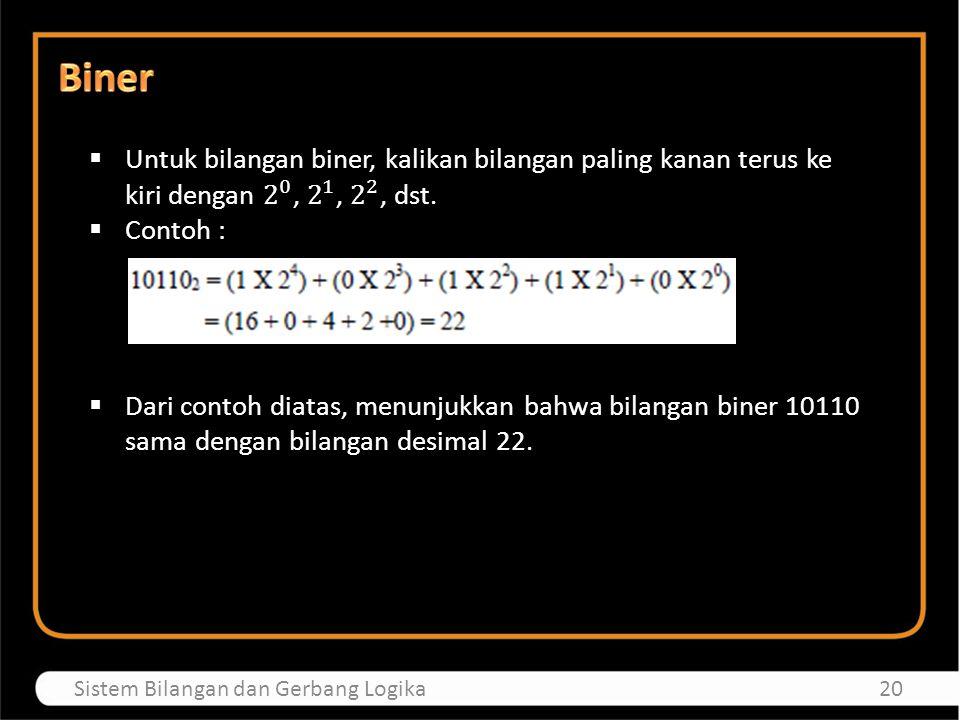 21Sistem Bilangan dan Gerbang Logika