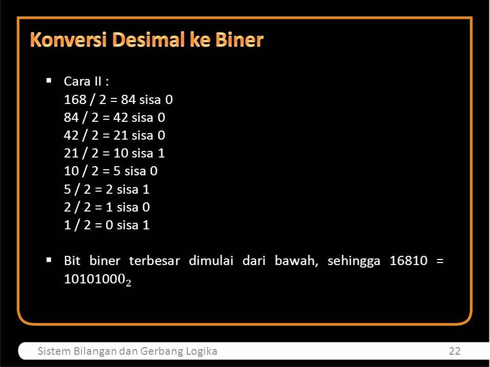  Bilangan heksadesimal biasa disebut bilangan basis 16, artinya ada 16 simbol yang mewakili bilangan ini.