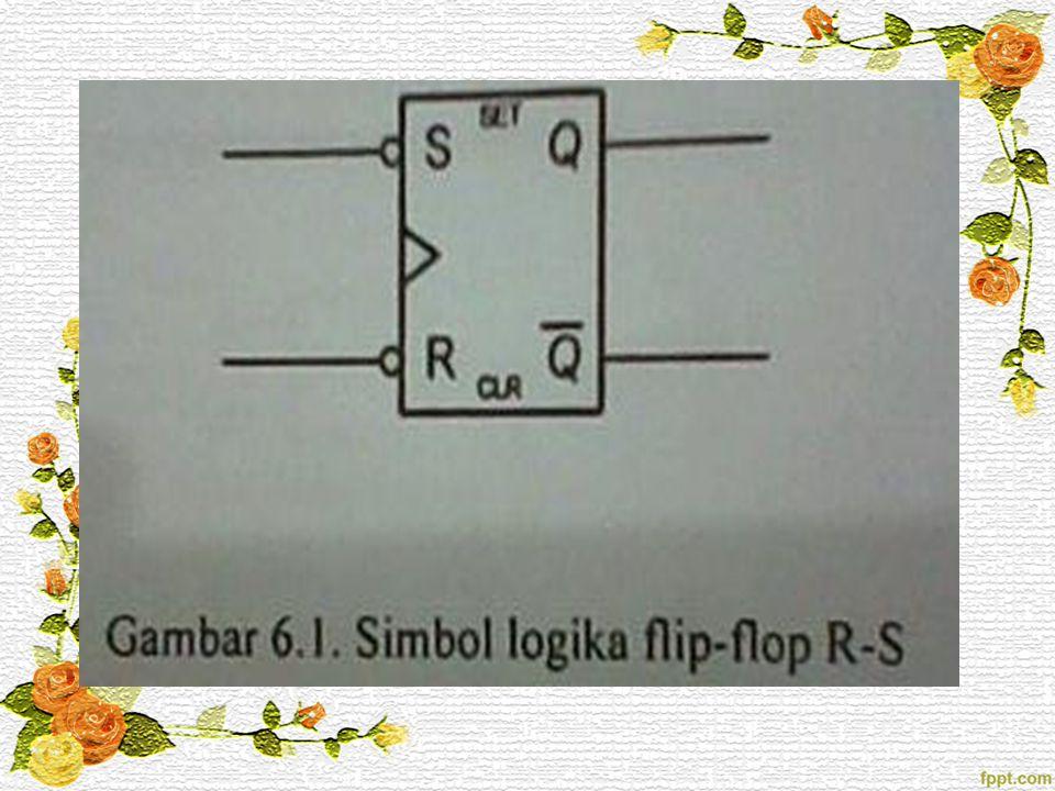 Tabel 6.1 merupakan tabel kebenaran flip-flop R-S yang memperjelas operasi kerjanya.