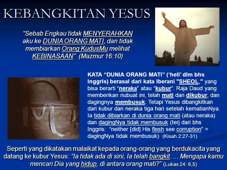 PENGUBURAN YESUS PENGUBURAN YESUS