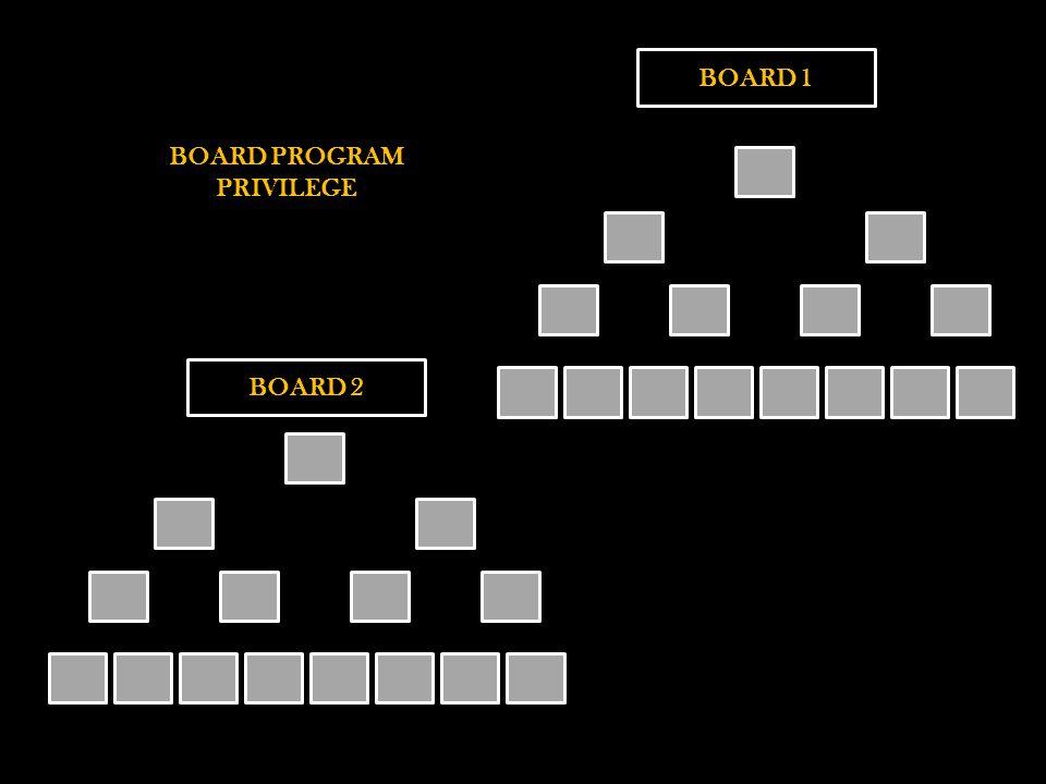 BOARD 1 BOARD 2 BOARD PROGRAM PRIVILEGE