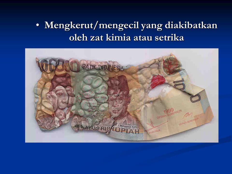 UANG RUSAK TIDAK DIBERIKAN PENGGANTIAN 40 % 25 %