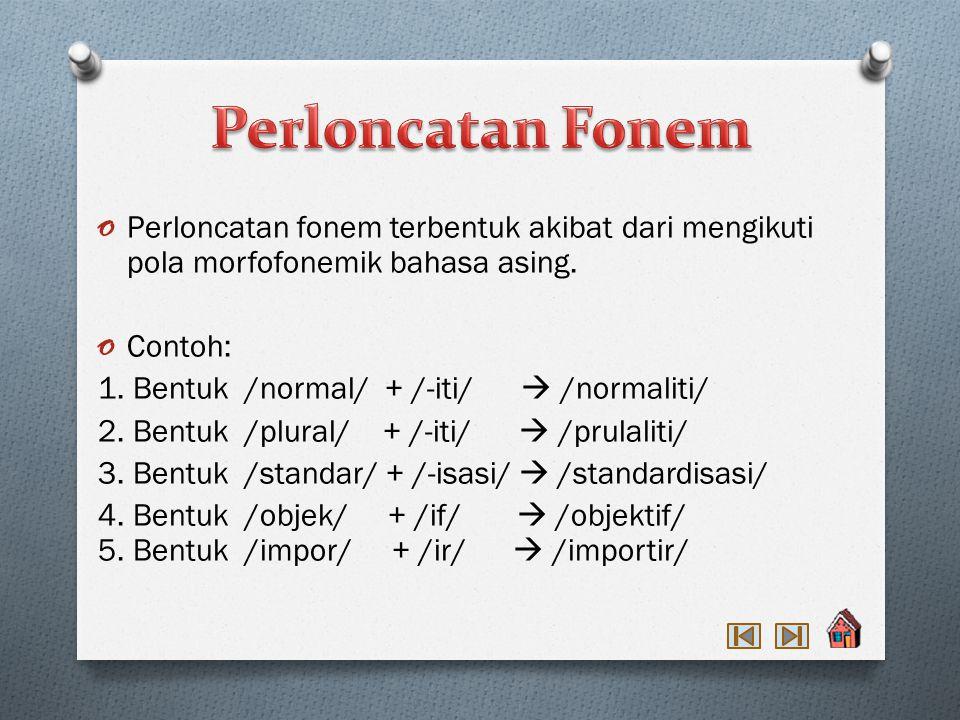 3. Penggantian fonem /s/ menjadi /ny/ terjadi pada penggabungan dengan afiks /me-/, /me-kan/, /me-i/, /pe-/, dan /pe-an/. Contohnya : /me-/ + /sayur/