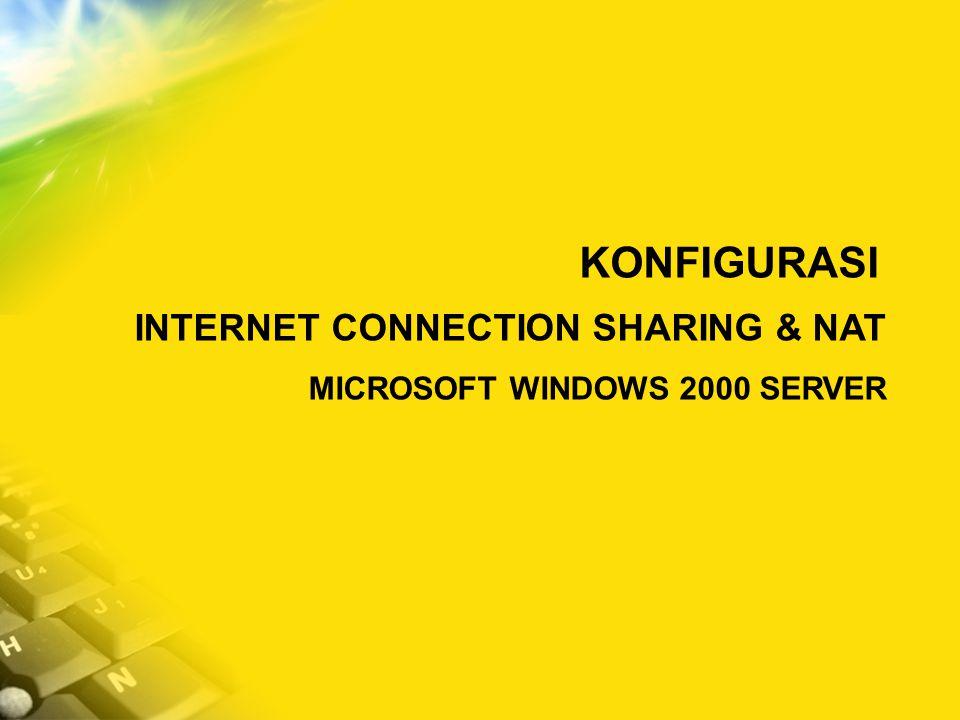CONTOH SKENARIO JARINGAN LINUX / SQUID MS WINDOWS 2000 SERVER MS WINDOWS XP