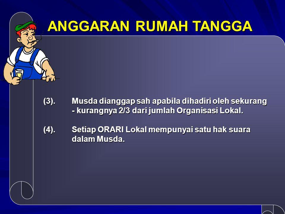 ANGGARAN RUMAH TANGGA Pasal 14 TUGAS, KEWAJIBAN DAN TANGGUNG JAWAB DEWAN PENGAWAS DAN PENASEHAT DPP dalam melaksanakan fungsinya, mempunyai tugas dan kewajiban sebagai berikut: (1).(2).(7).