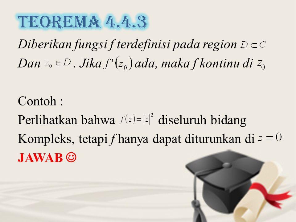 Diberikan fungsi f terdefinisi pada region Dan.