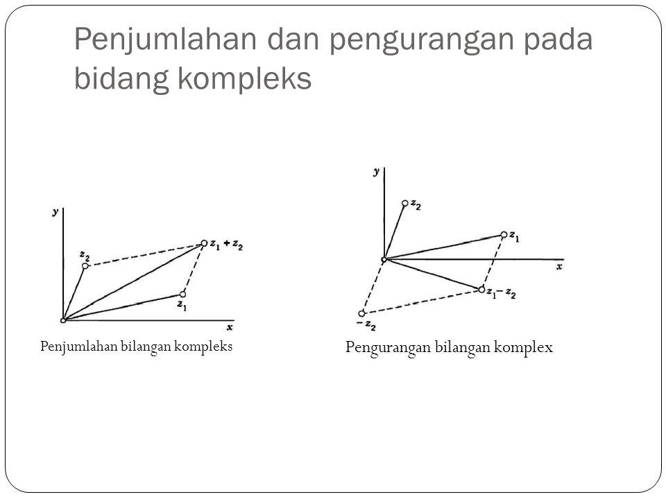 Penjumlahan dan pengurangan pada bidang kompleks Penjumlahan bilangan kompleks Pengurangan bilangan komplex
