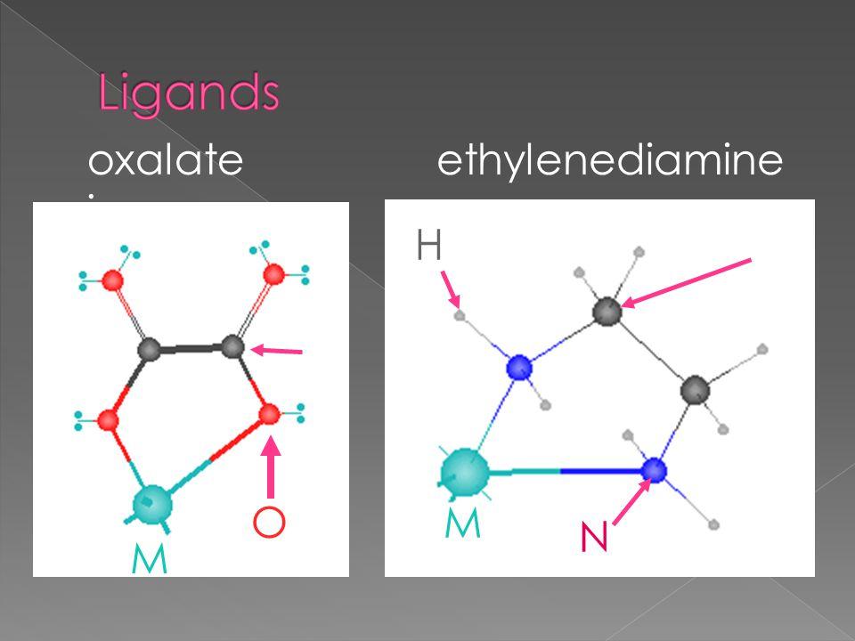 oxalate ion ethylenediamine O C M M N C H