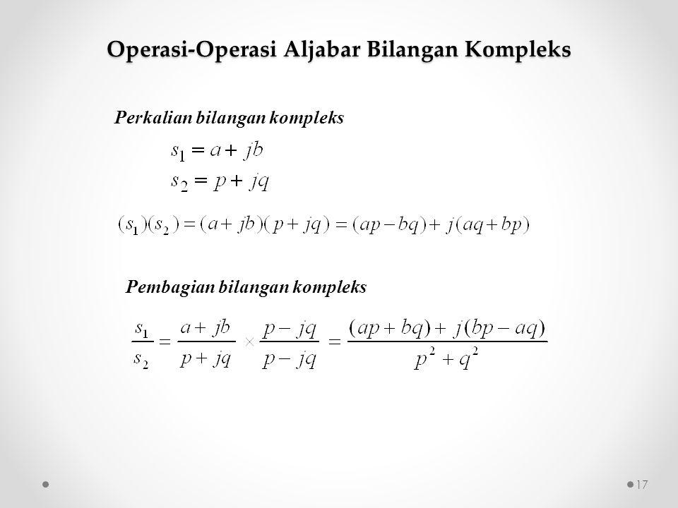 Perkalian bilangan kompleks Pembagian bilangan kompleks Operasi-Operasi Aljabar Bilangan Kompleks 17