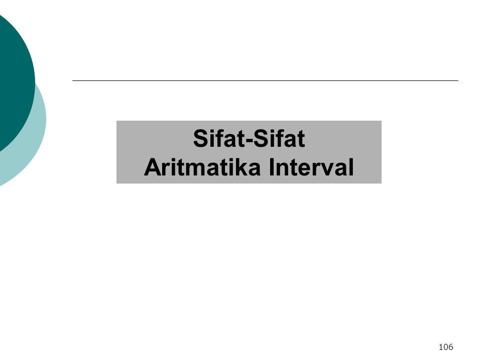 Sifat-Sifat Aritmatika Interval 106