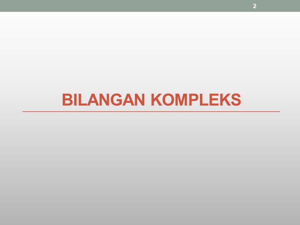 BILANGAN KOMPLEKS 2