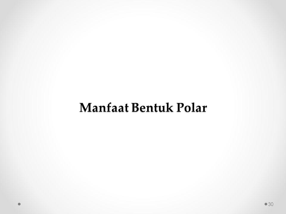 Manfaat Bentuk Polar 30