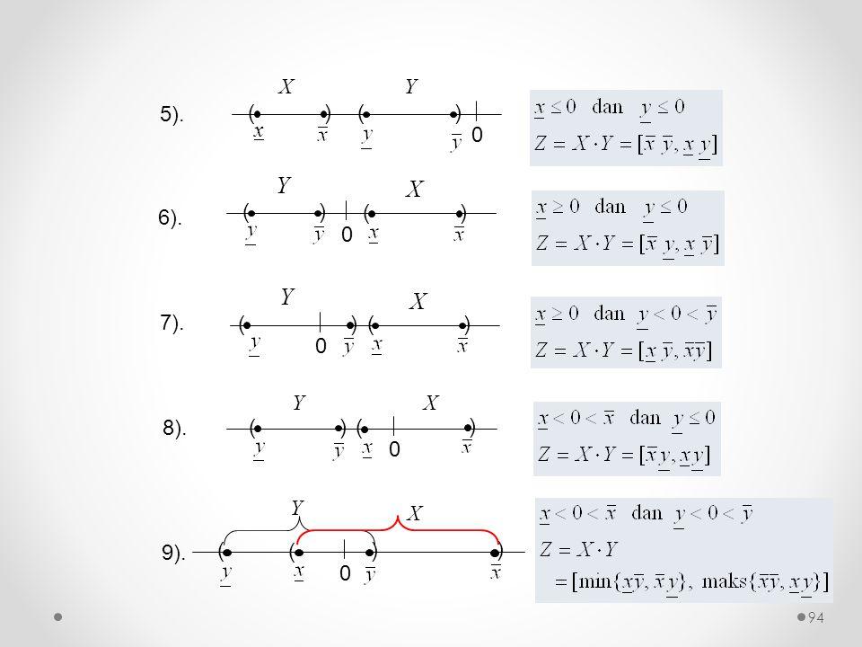6). 0 () () Y X 7). 0 () () Y X 0 () ( ) YX 8). 9). 0 () ( ) Y X 5). 0 () x () XY 94