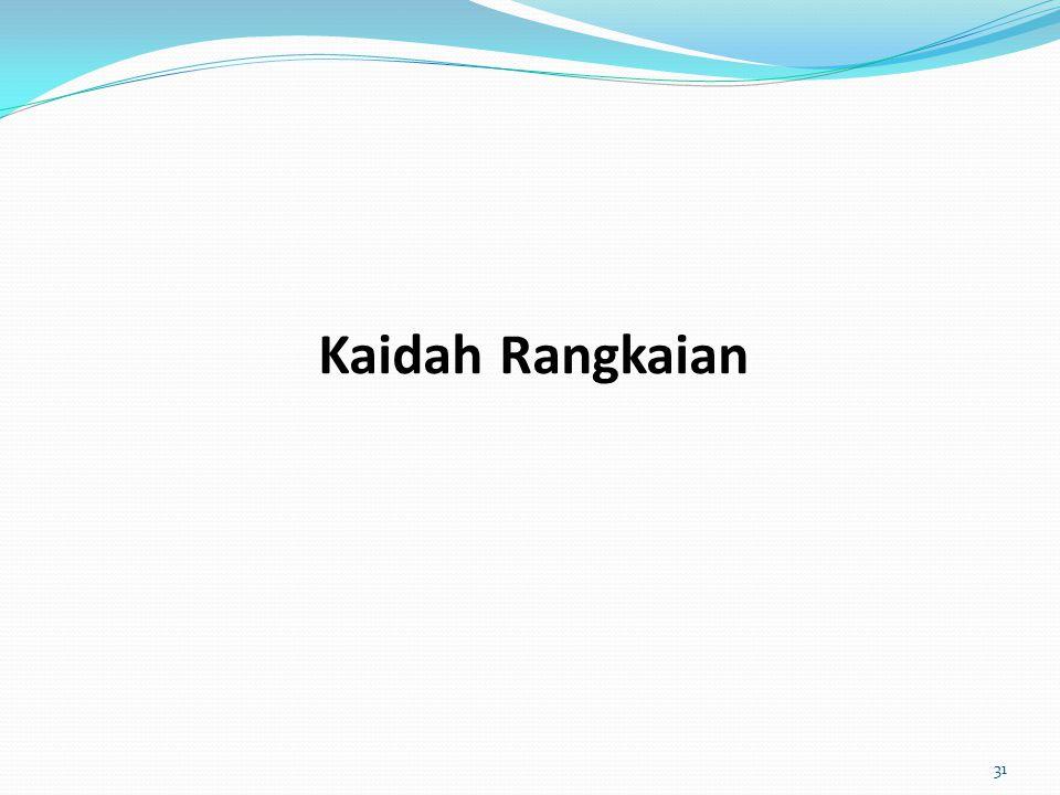 Kaidah Rangkaian 31