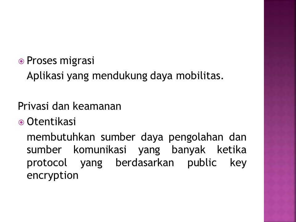 Sumber http://ocw.gunadarma.ac.id/course/computer-science-and- information/computer-system-s1/sistem-komputasi-bergerak http://ocw.gunadarma.ac.id/course/computer-science-and- information/computer-system-s1/sistem-komputasi-bergerak http://ri32.wordpress.com/2010/04/06/mobile-computing/ http://en.wikipedia.org/wiki/Mobile_computing http://www.kr.co.id/web/detail.php?sid=226623&actmenu=44 http://condetcity.wordpress.com/2010/03/13/mobile- computing/ http://rizkywarior.wordpress.com/2010/04/30/persamaan- dan-perbedaan-mobile-computing-grid-computing-dan-cloud- computing/