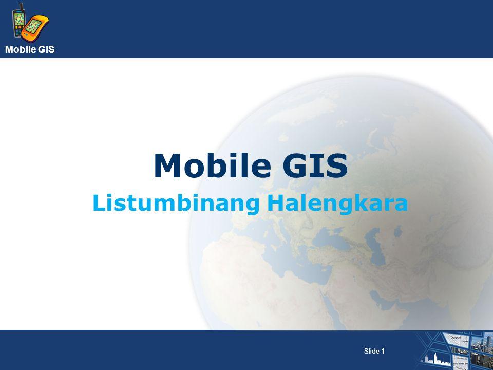 Mobile GIS Slide 1 Mobile GIS Listumbinang Halengkara