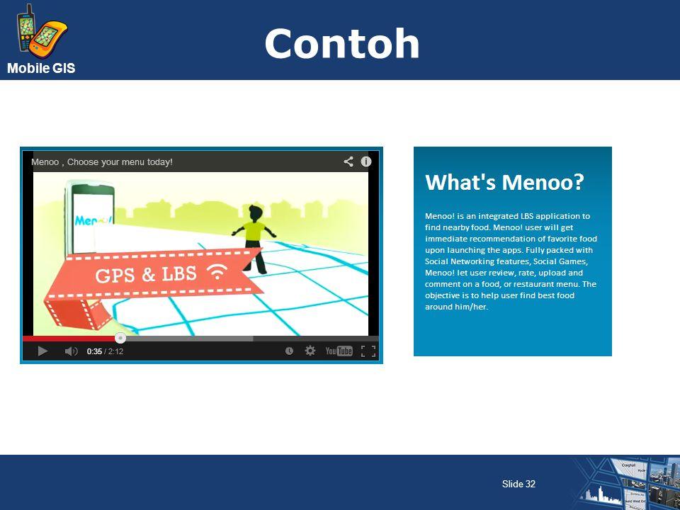 Mobile GIS Contoh Slide 32
