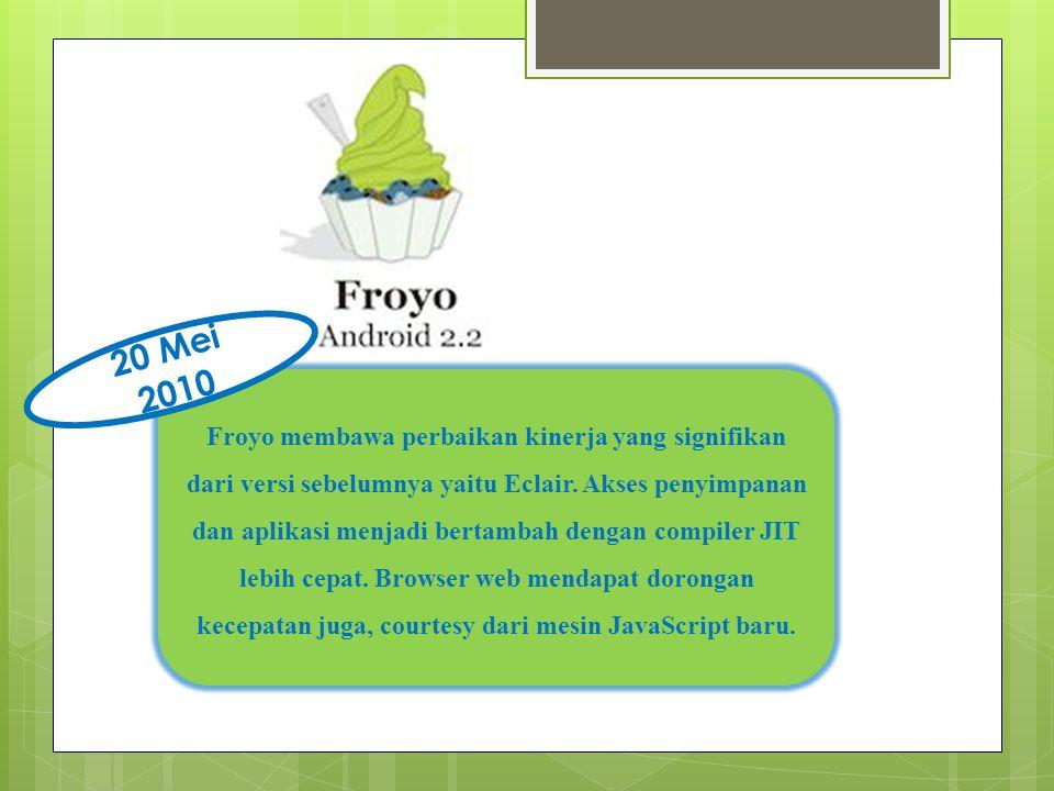 Froyo membawa perbaikan kinerja yang signifikan dari versi sebelumnya yaitu Eclair.
