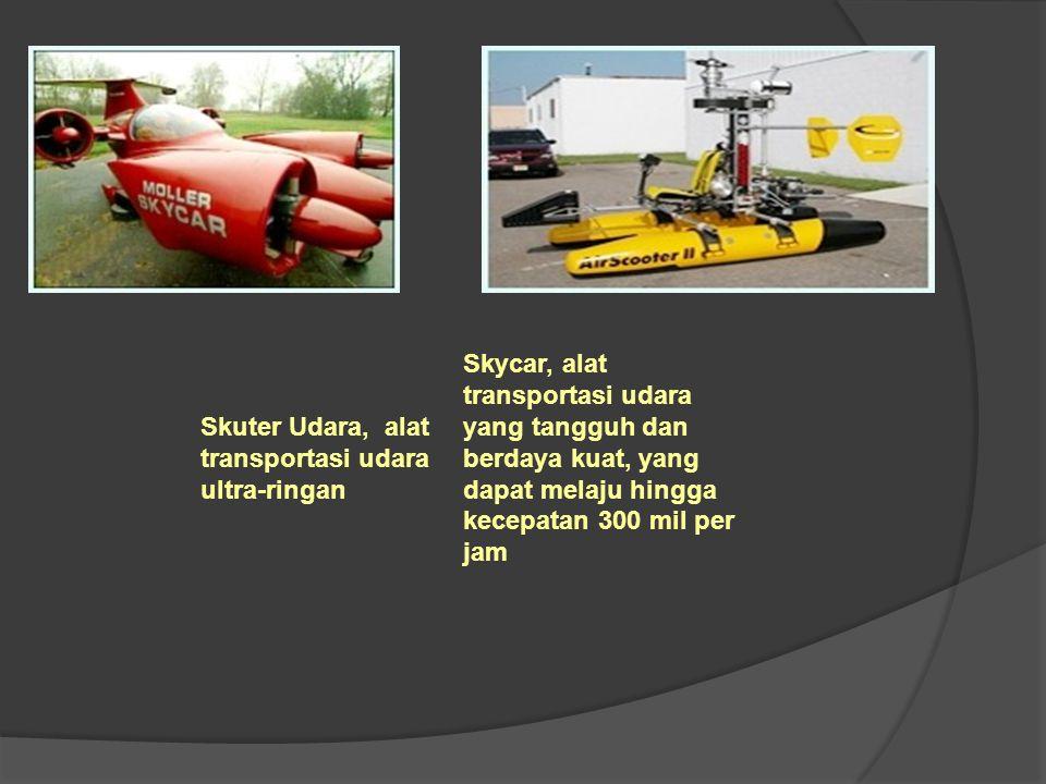 Skuter Udara, alat transportasi udara ultra-ringan Skycar, alat transportasi udara yang tangguh dan berdaya kuat, yang dapat melaju hingga kecepatan 3