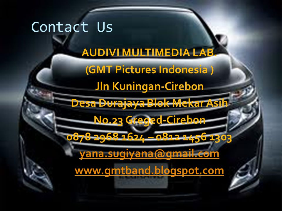 Contact Us AUDIVI MULTIMEDIA LAB.