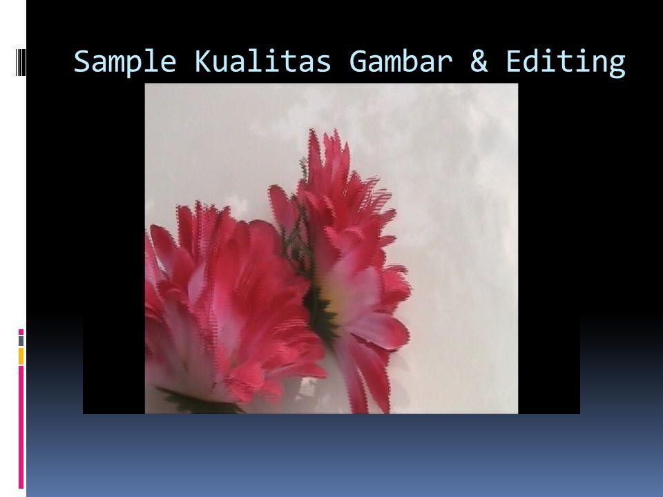 Sample Kualitas Gambar & Editing