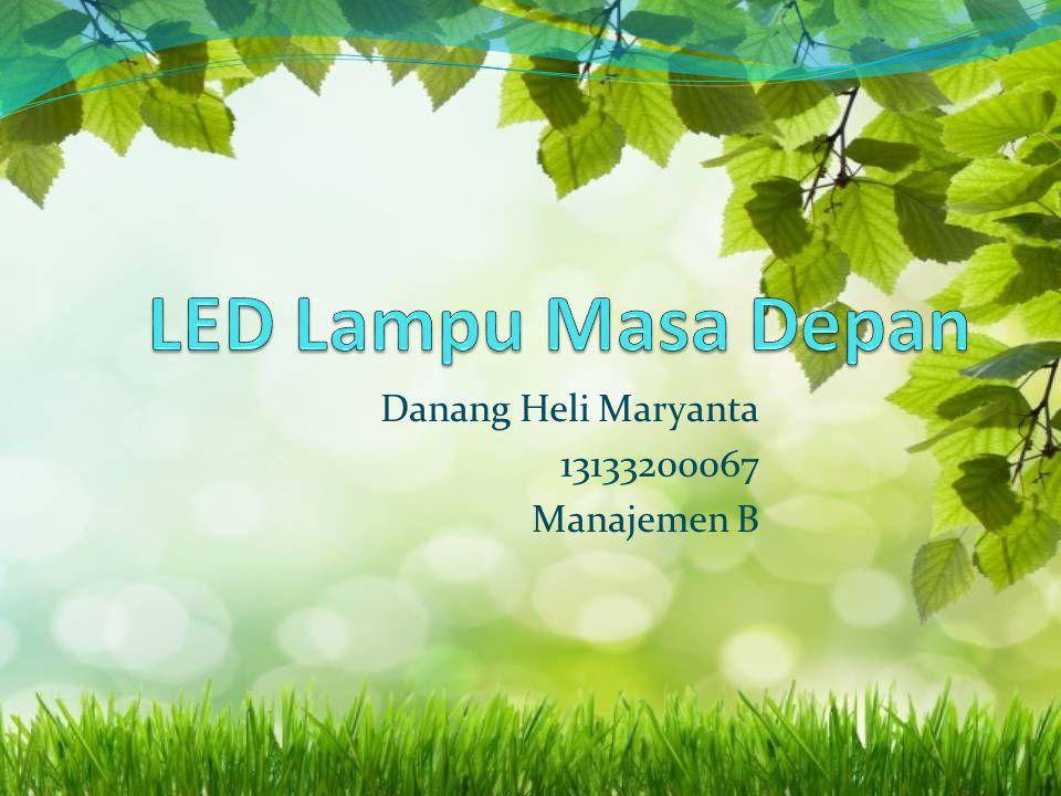 Danang Heli Maryanta 13133200067 Manajemen B