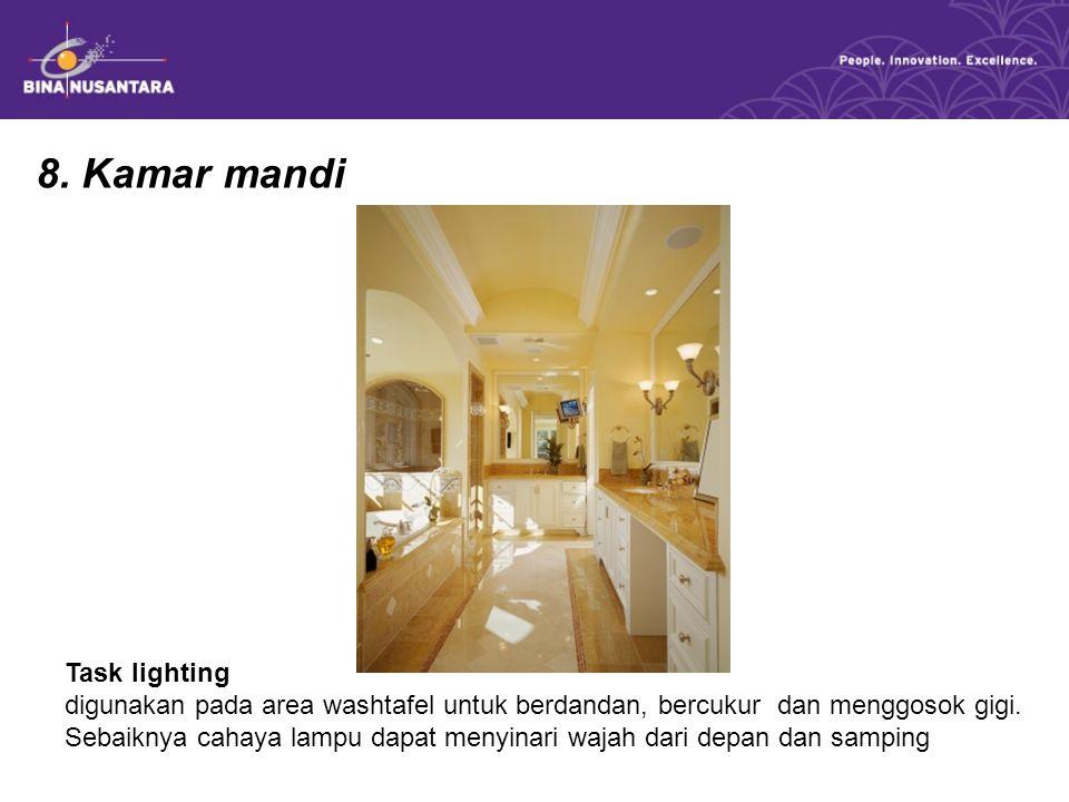 Soal : 1.Pencahayaan yang baik untuk dapur adalah .