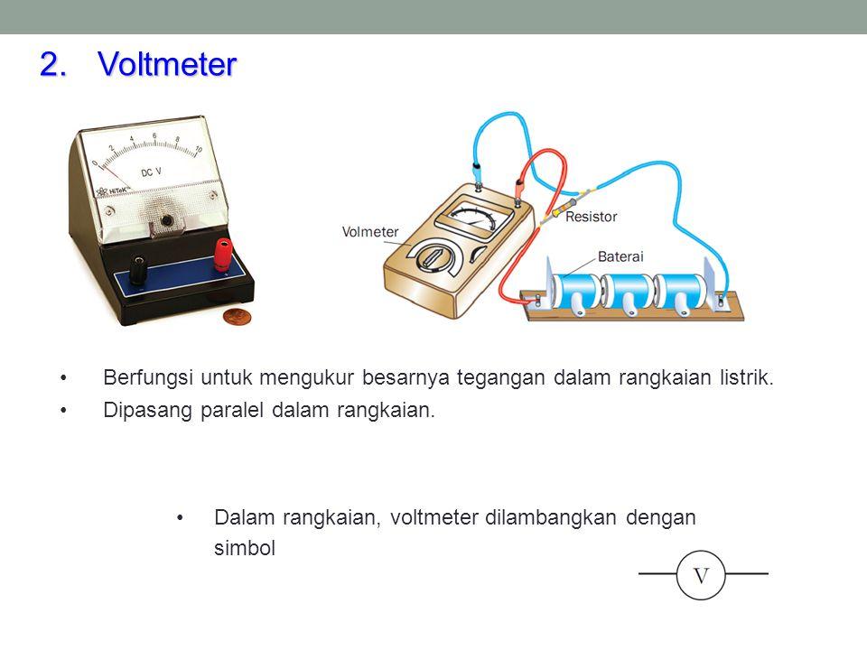 3.Multimeter Dapat berfungsi sebagai voltmeter, amperemeter, dan ohmeter.