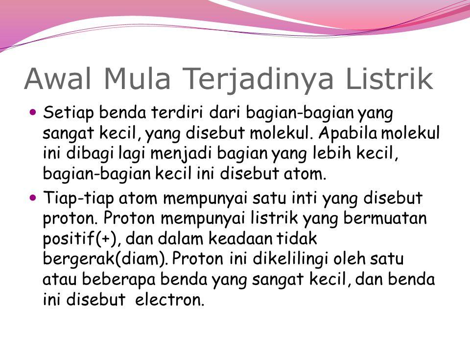 Electron Electron yang berada pada lapisan terluar (orbit) disebut electron bebas.