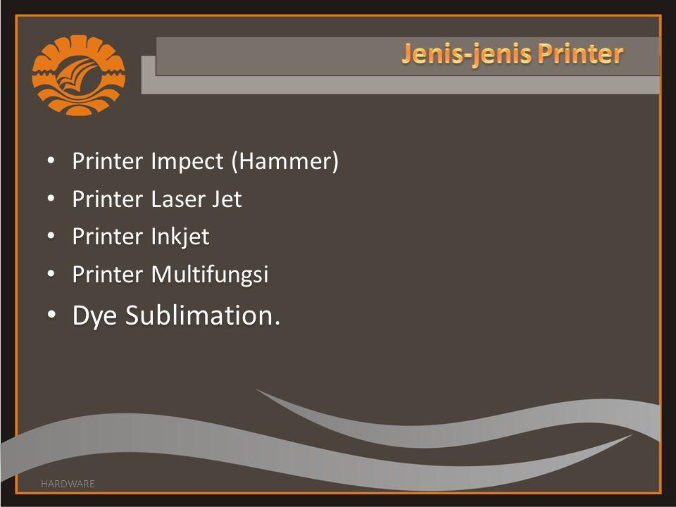 Yang termasuk kategori printer impact : Daisy Weel : menggunakan roda yang berisi karakter- karakter.