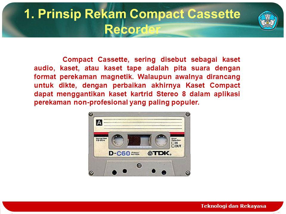 1. Prinsip Rekam Compact Cassette Recorder Teknologi dan Rekayasa Compact Cassette, sering disebut sebagai kaset audio, kaset, atau kaset tape adalah