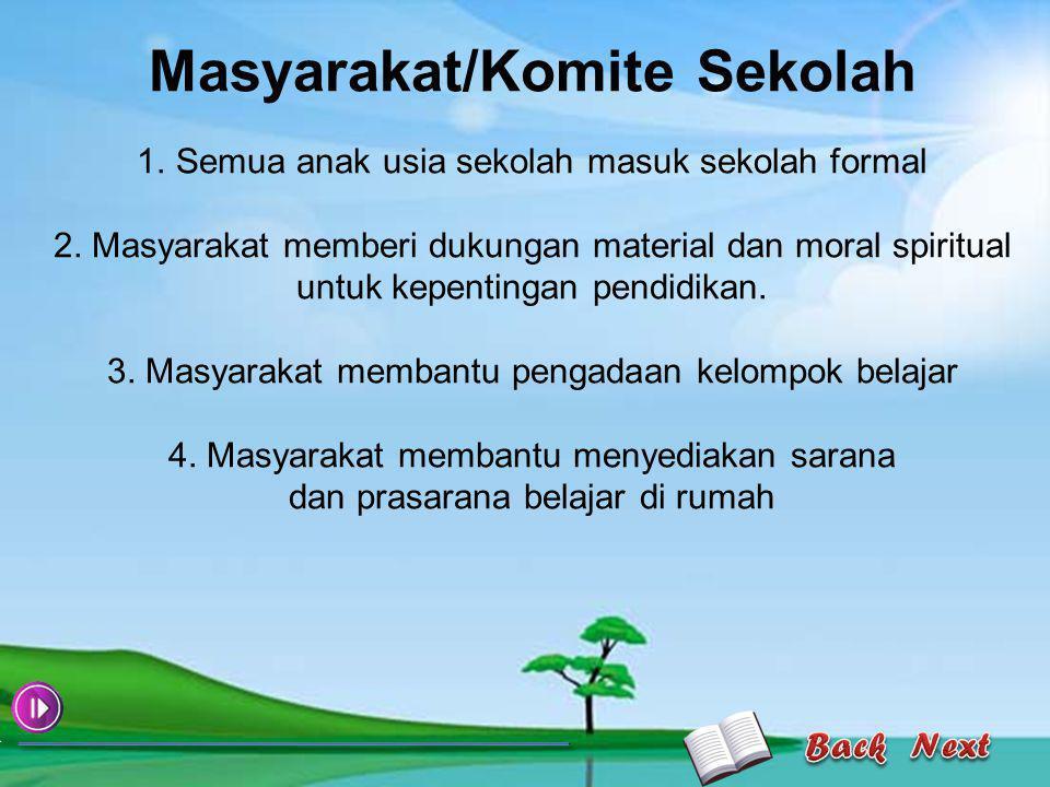 5.Masyarakat menyadari pentingnya pendidikan 6.
