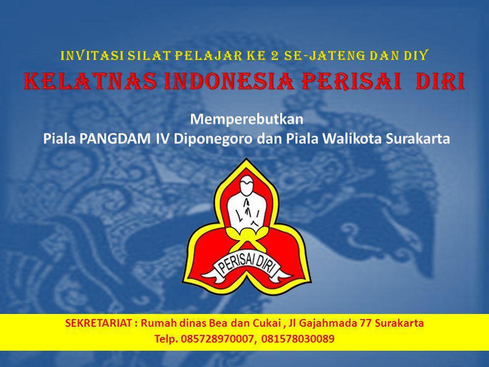 SEKRETARIAT : Rumah dinas Bea dan Cukai, Jl Gajahmada 77 Surakarta Telp. 085728970007, 081578030089