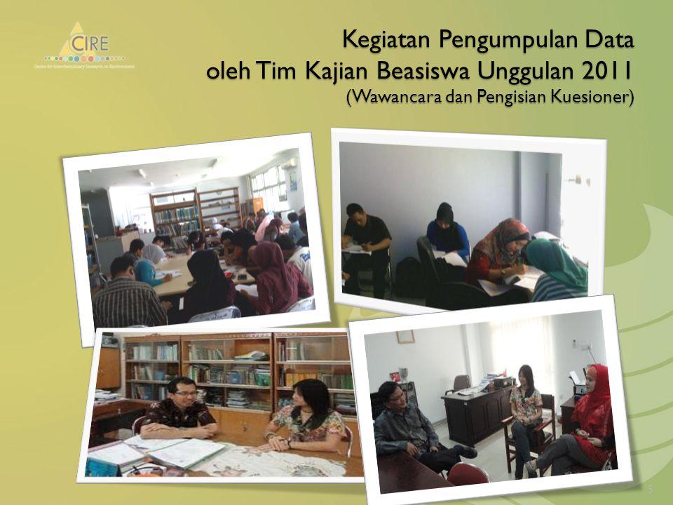 Kegiatan Pengumpulan Data oleh Tim Kajian Beasiswa Unggulan 2011 (Wawancara dan Pengisian Kuesioner) 5