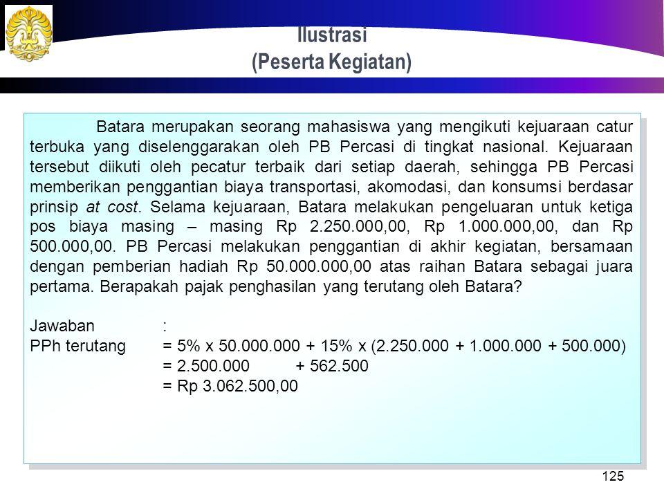 Tata Cara Penghitungan 124 Dasar Pengenaan Pajak (DPP) = Jumlah penghasilan bruto yang bersifat utuh dan tidak dipecah Dasar Pengenaan Pajak (DPP) = J