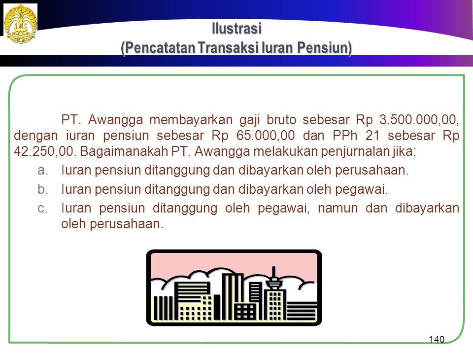 Pencatatan Transaksi PPh 21  Pembayaran Imbalan oleh Pemberi Kerja  Jumlah yang ditanggung pemberi kerja  Menambah beban gaji.  Jumlah yang ditang