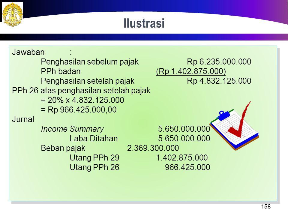 Jawaban: Peredaran bruto Rp 24.000.000.000 Biaya operasi dan non operasi(Rp 18.350.000.000) Koreksi fiskal positif Rp 585.000.000 Penghasilan Kena Paj