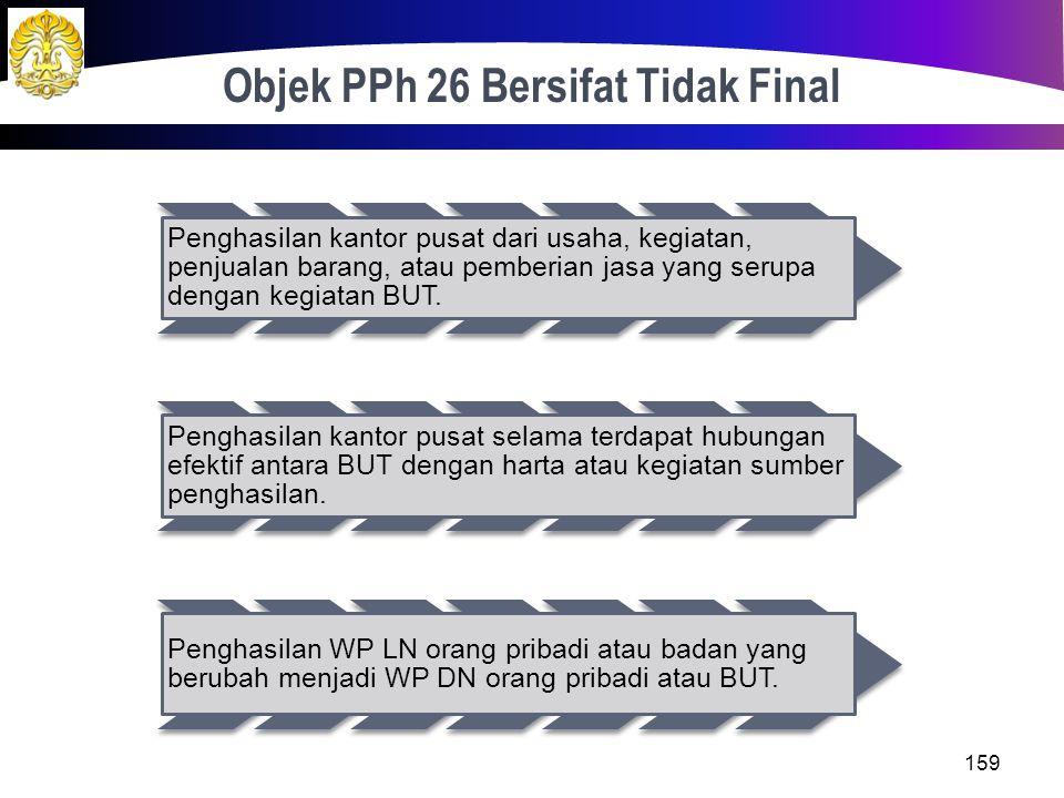 Jawaban: Penghasilan sebelum pajak Rp 6.235.000.000 PPh badan(Rp 1.402.875.000) Penghasilan setelah pajak Rp 4.832.125.000 PPh 26 atas penghasilan set