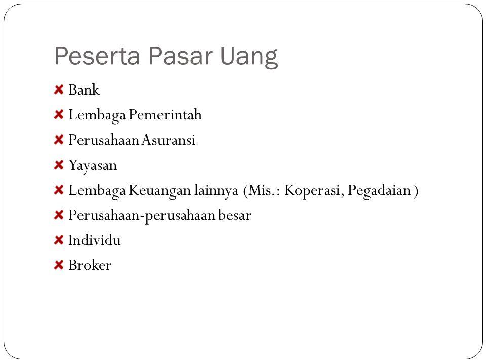 JIBOR Jakarta Interbank Offered Rate ditentukan berdasarkan tingkat bunga deposito berjangka rata rata dari sejumlah bank (bank pemerintah, bank swasta nasional dan swasta asing) yang dianggap sebagai refleksi tingkat bunga pasar uang di Jakarta Bank Indonesia membentuk Pusat Informasi Pasar Uang (PIPU) dan menunjuk sejumlah bank serta pialang pasar uang yang akan menjadi peserta aktif dalam mekanisme penentuan Jibor Periode tingkat bunga Jibor bervariasi mulai dari jangka waktu 1 hari (overnight), 1 minggu, 1 bulan, 3 bulan, 6 bulam dan 12 bulan.