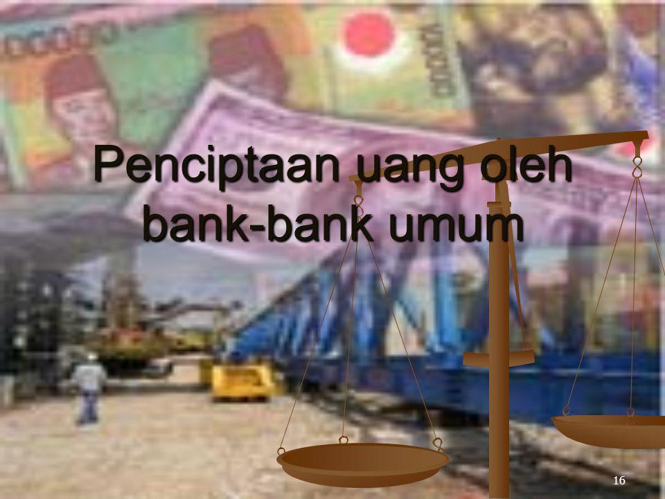 16 Penciptaan uang oleh bank-bank umum