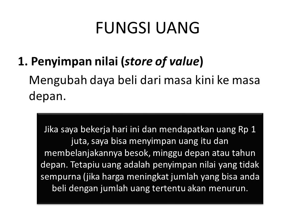 FUNGSI UANG 2.