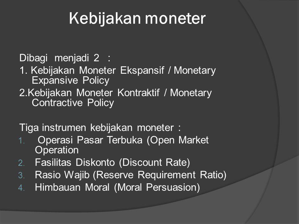MENGUBAH PENAWARAN UANG UNTUK MEMENGARUHI TINGKAT BUNGA Penawaran Uang Faktor-faktor yang mempengaruhi penawaran uang : 1.